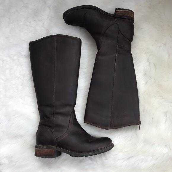 0607beb87e0 UGG I Seldon Riding Boots Brown Leather 7.5